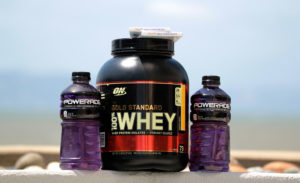 whey protein powder container