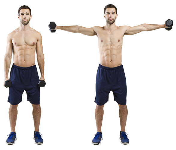 fit man lateral raises shoulders exercise
