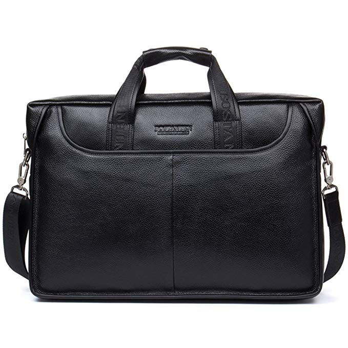 BOSTANTEN Leather Messenger Business Bag for Men
