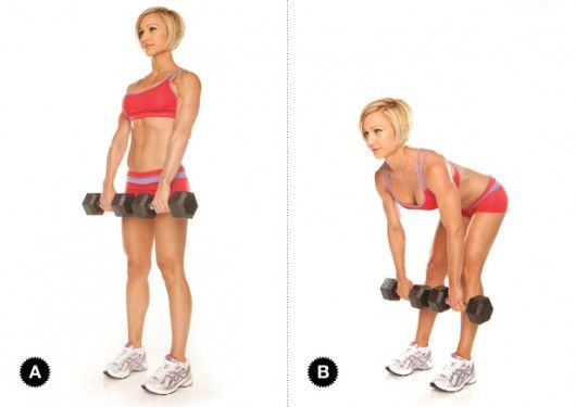 straight leg dumbbell deadlift