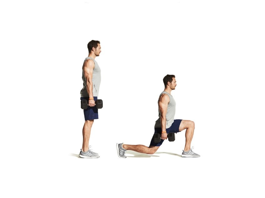 walking lunges cutting exercise for lean body