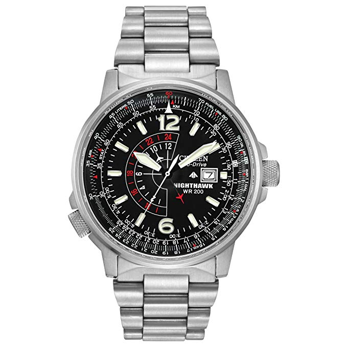 Citizen BJ700052E Nighthawk Stainless-Steel Eco-Drive Watch