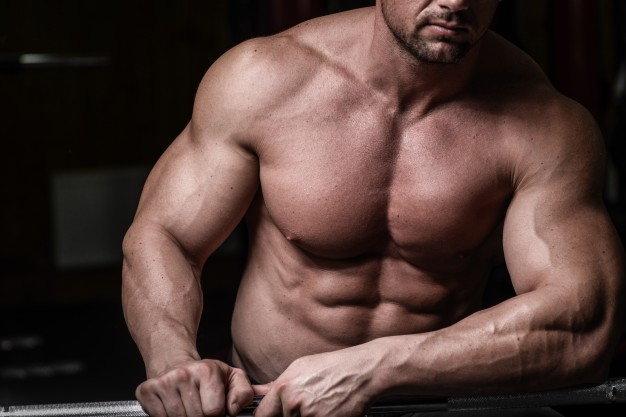 bodybuilder with perfect upper chest