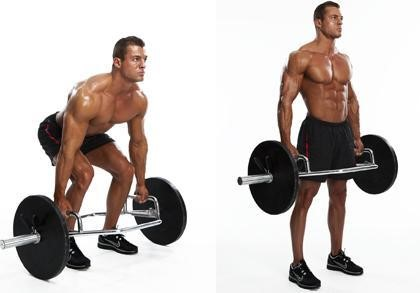 man doing deadlift back exercise
