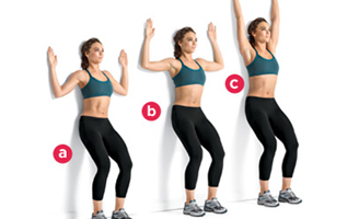 wall-angle exercise for bad posture