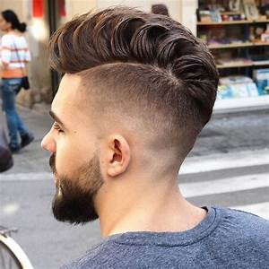 High Fade with Loose Pompadour Hairstyle Men