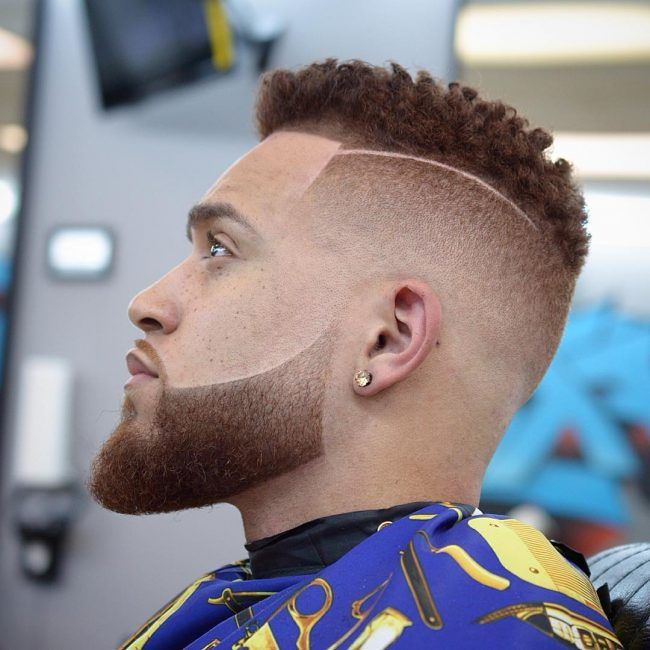 Undercut  and Fade with Surgical Part Haircut Man