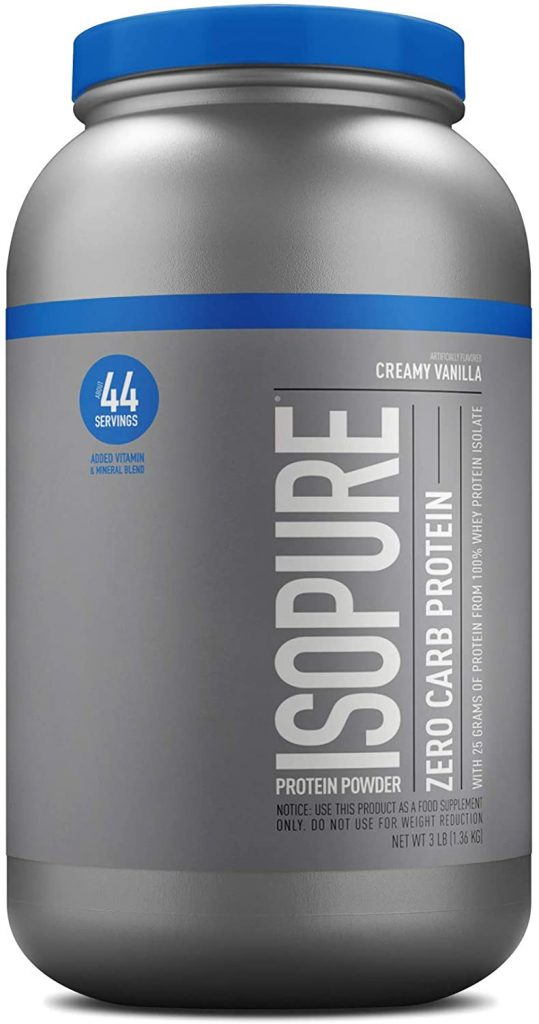 Nature's Best Zero Carb Isopure whey protein