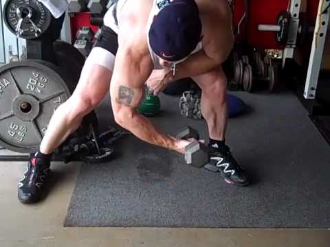 man doing biceps curl exercise