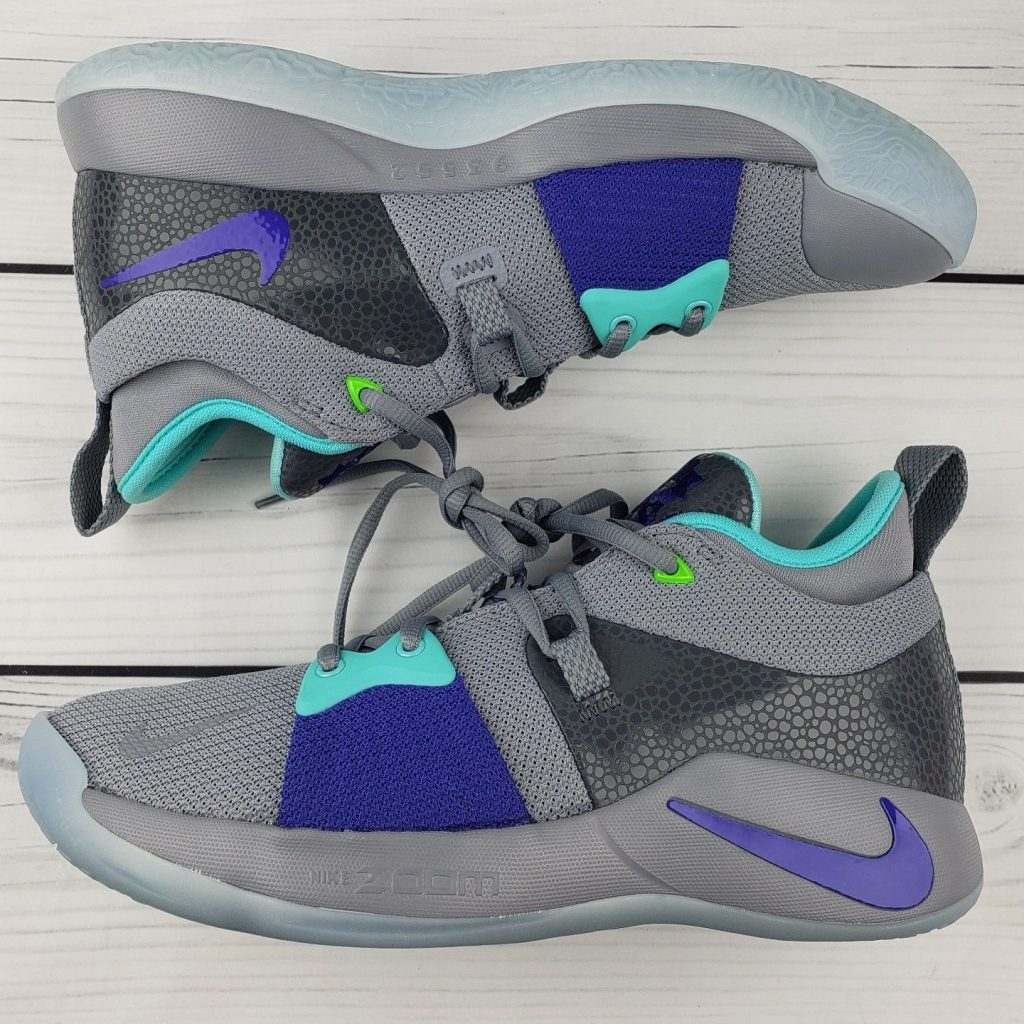 Gray and Turquoise Blake sneakers
