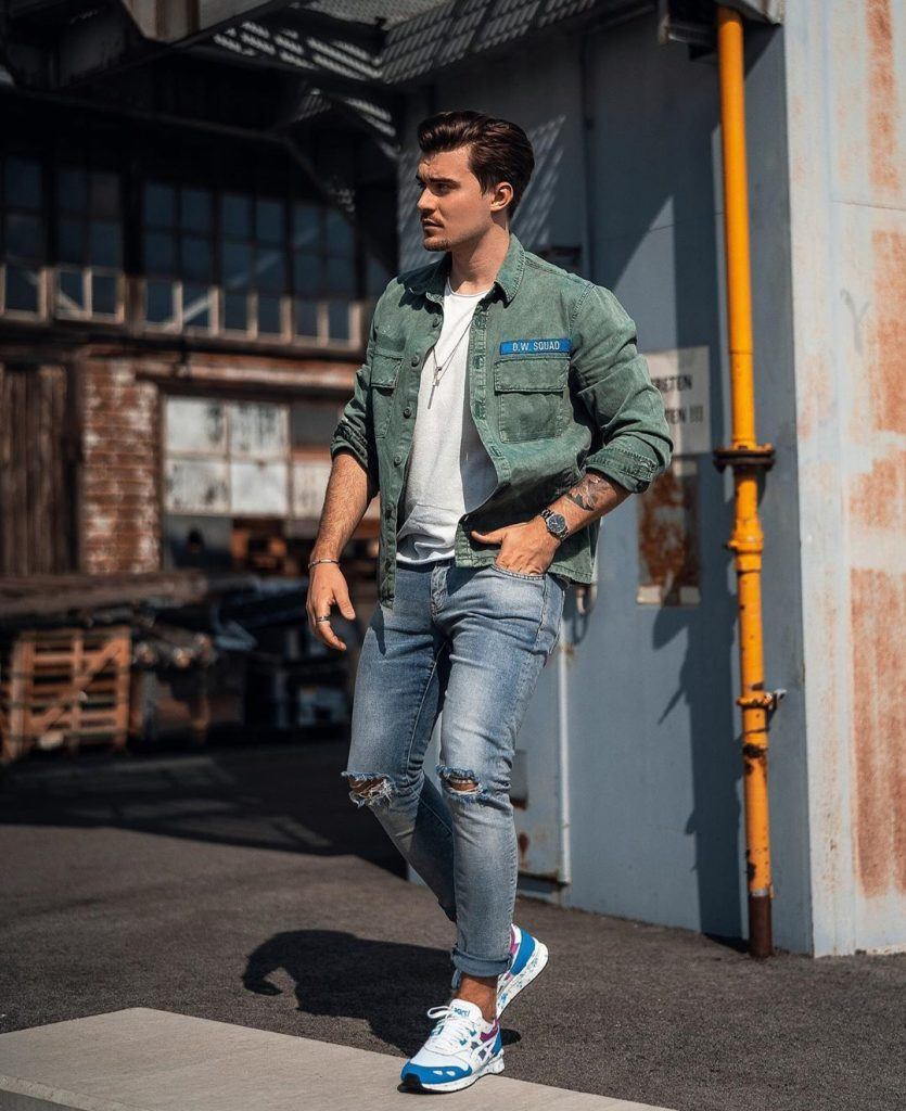 latest denim jeans and shirts trend men