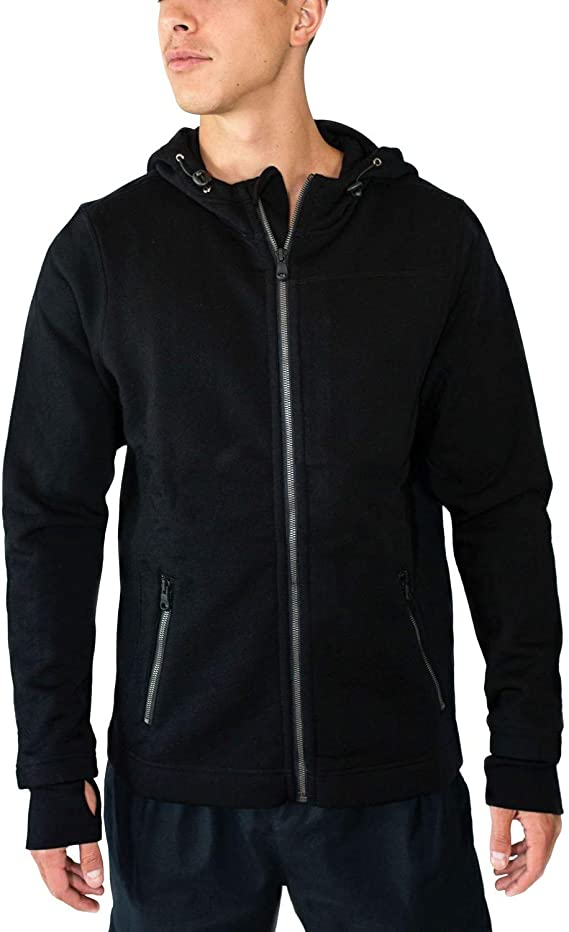 Woolx Mens Grizzly Full Zip Merino Wool Hooded Sweatshirt For Extreme Warmth