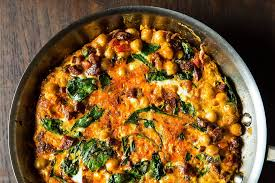 Chickpea frittata healthy food recipe
