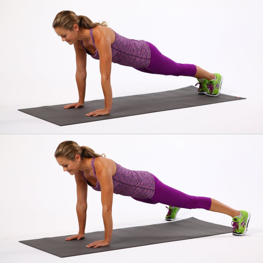fit  woman doing plank jacks tabata workout
