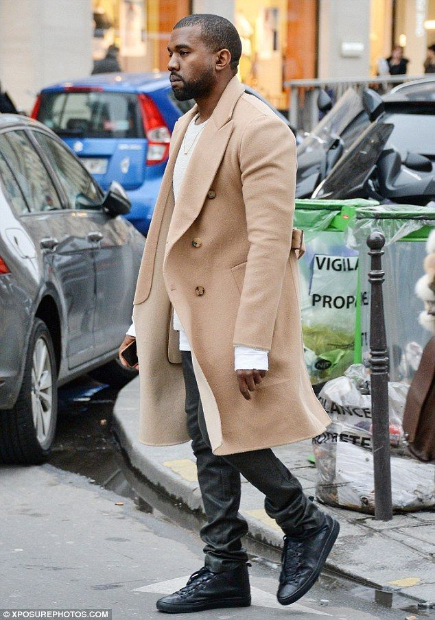 Kanya West long coat fashion trend men