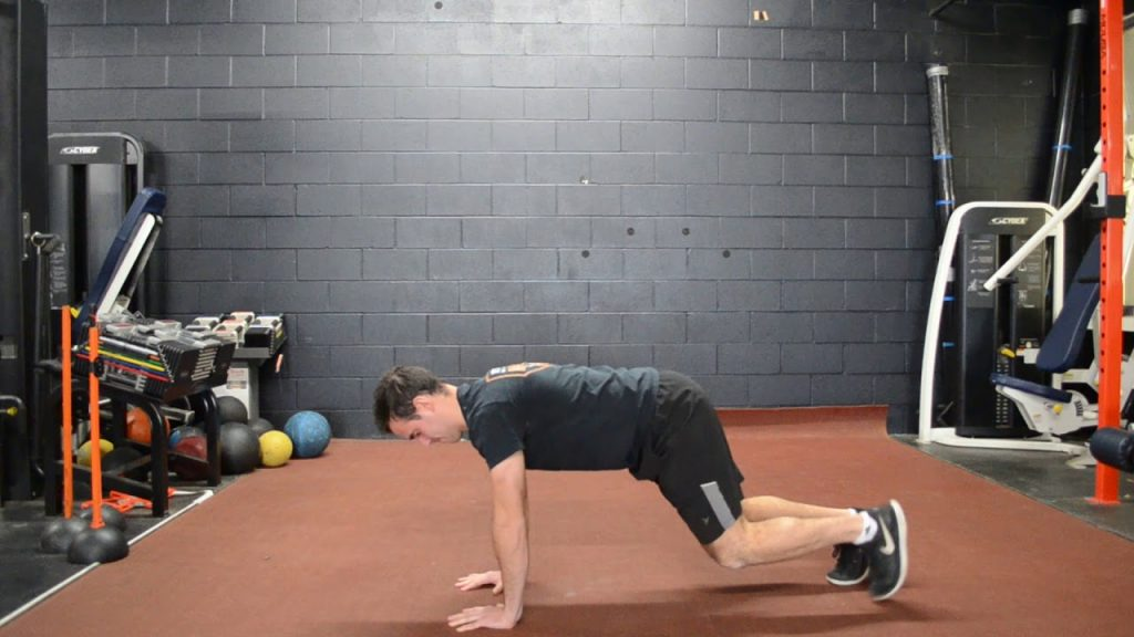 bear crawl pushups exercise