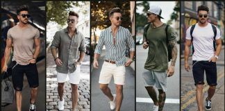 latest shorts summer outfit trends for men 2021