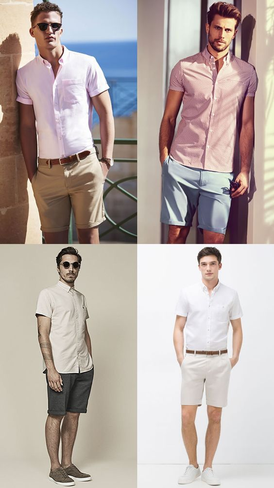 men's tailored shorts outfit ideas