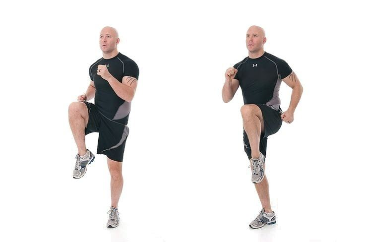 spot jogging exercise