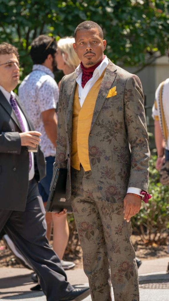 Gray floral suit worn by Terrance Howard in 'Empire'
