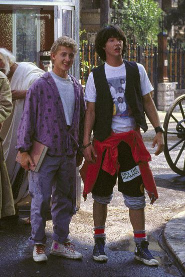 Kaenu Reeves costume from Bill & Ted stylish