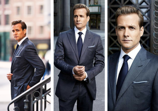 Professional suits sported by Gabriel Macht in 'Suits'  Wardrobe Netflix