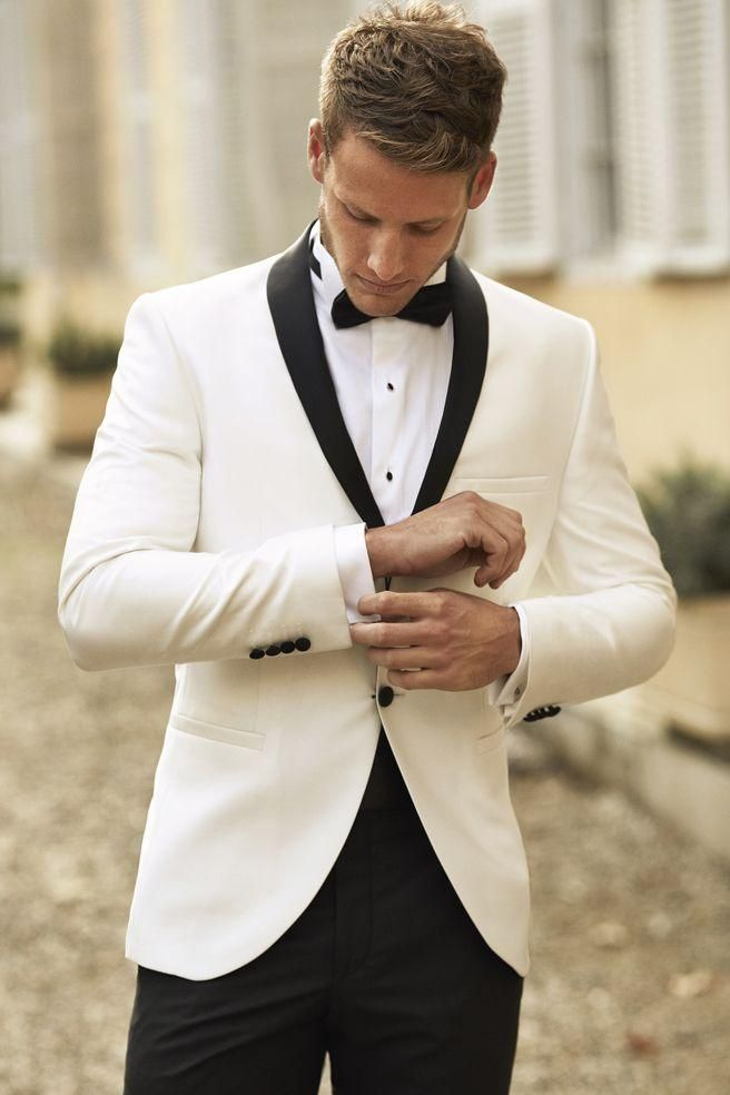 handsome man wearing tuxedo dinner suit wedding suit