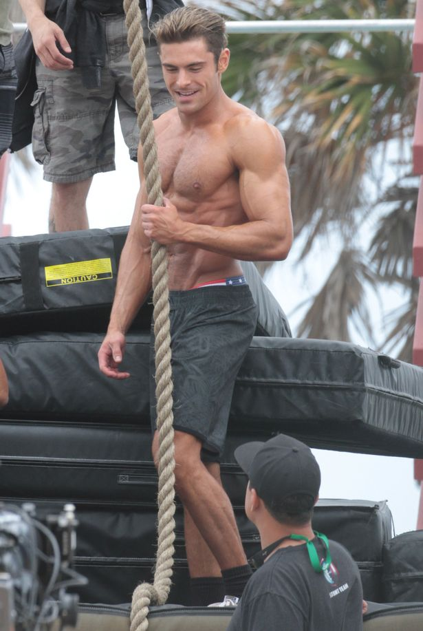 ripped big biceps workout Zac Efron Baywatch workout plan
