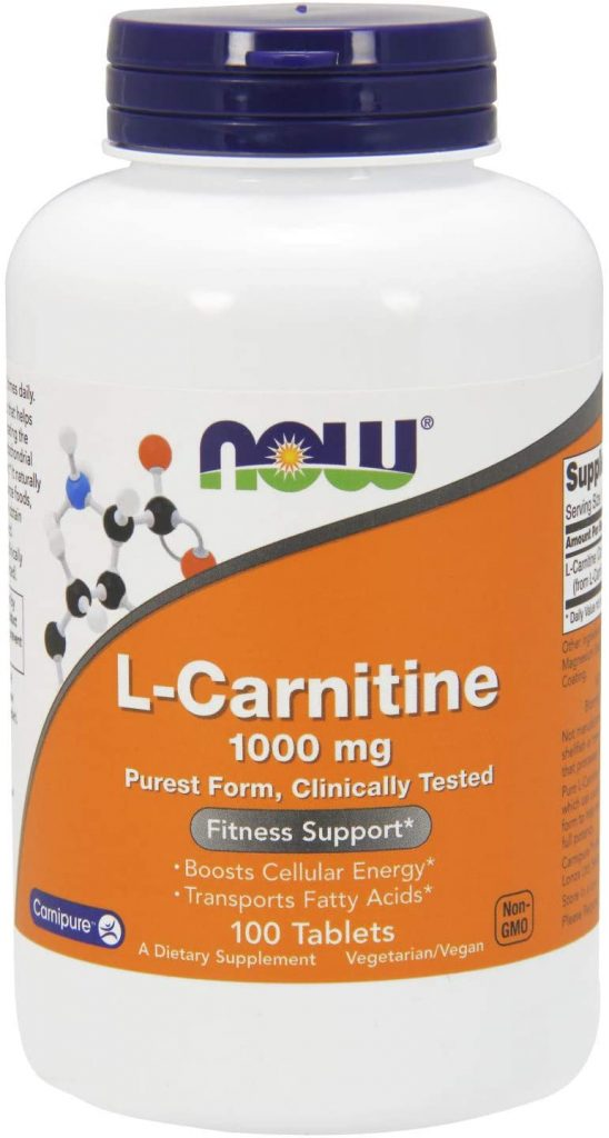 NOW Supplements, L-Carnitine 1,000 mg, Purest Form, Amino Acid, Fitness Support