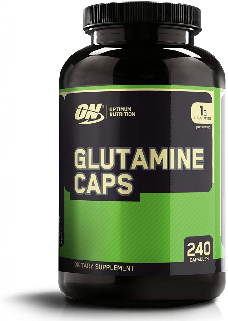 Optimum Nutrition L-Glutamine Muscle Recovery Capsules, 1000mg, 240 Count