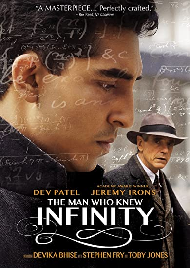 The Man Who Knew Infinity movie poster amazon motivation