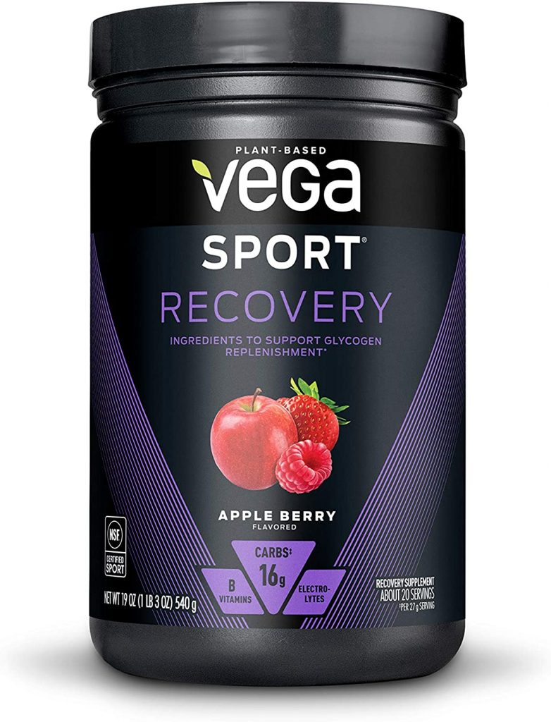 Vega Sport Recovery, Apple Berry - Post Workout Recovery Drink Mix with Electrolytes