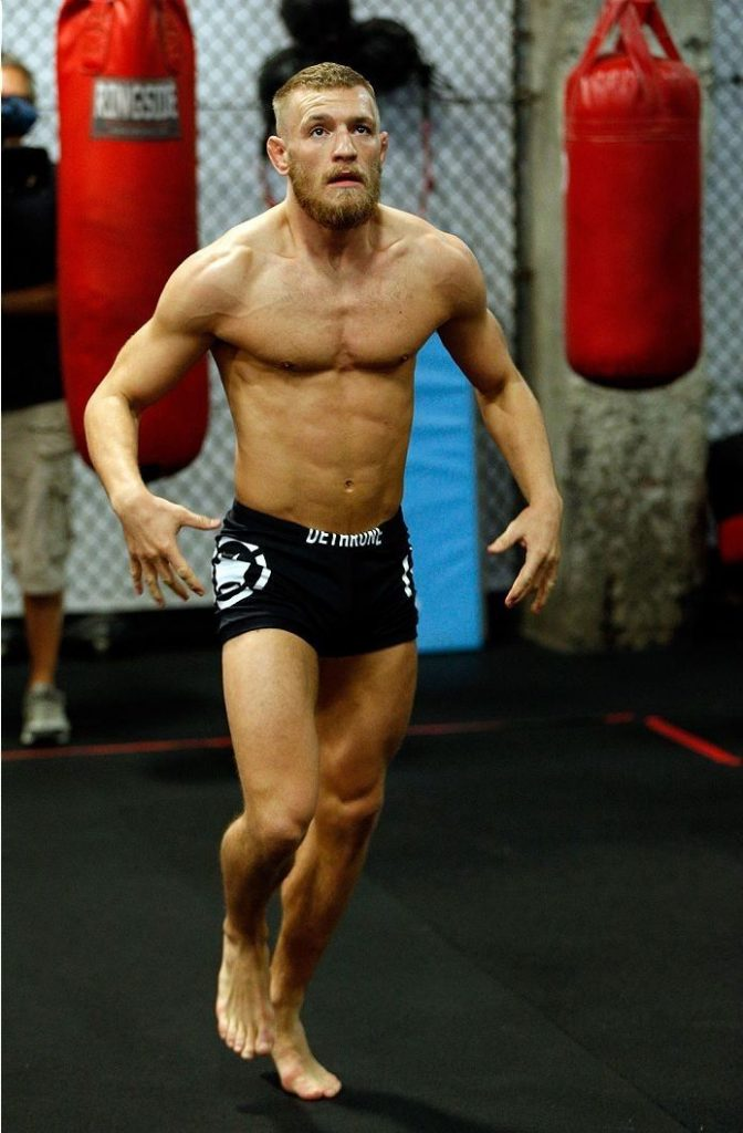 conor mcgregor working out ufc