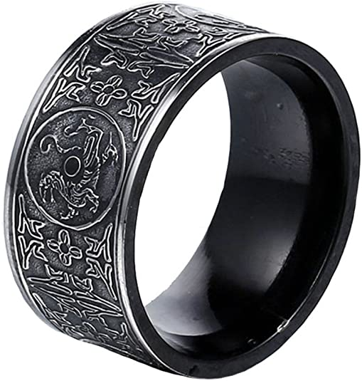 Men's Stainless Steel Ring Ancient